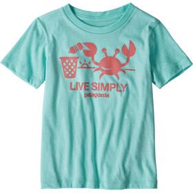 Patagonia Live Simply Organic - Camiseta manga corta Niños - Turquesa